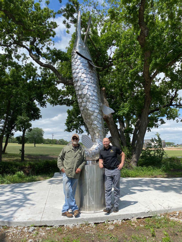 Iron Does Swim Sculptor, Joe Barrington with Kyle Wilks